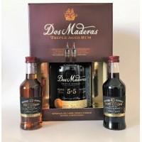 Dos Maderas Rum 5+5 0,7l + 2x 0,10 l Sherry 20 let dárk. kazeta