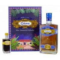 Coloma Ron rum 8 aňos 0,7l 40% v dárkové kazetě s kávovým likérem 0,05l 25%