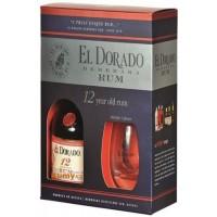 El Dorado 12 y. Rum 70 cl 40% + 2 skleničky